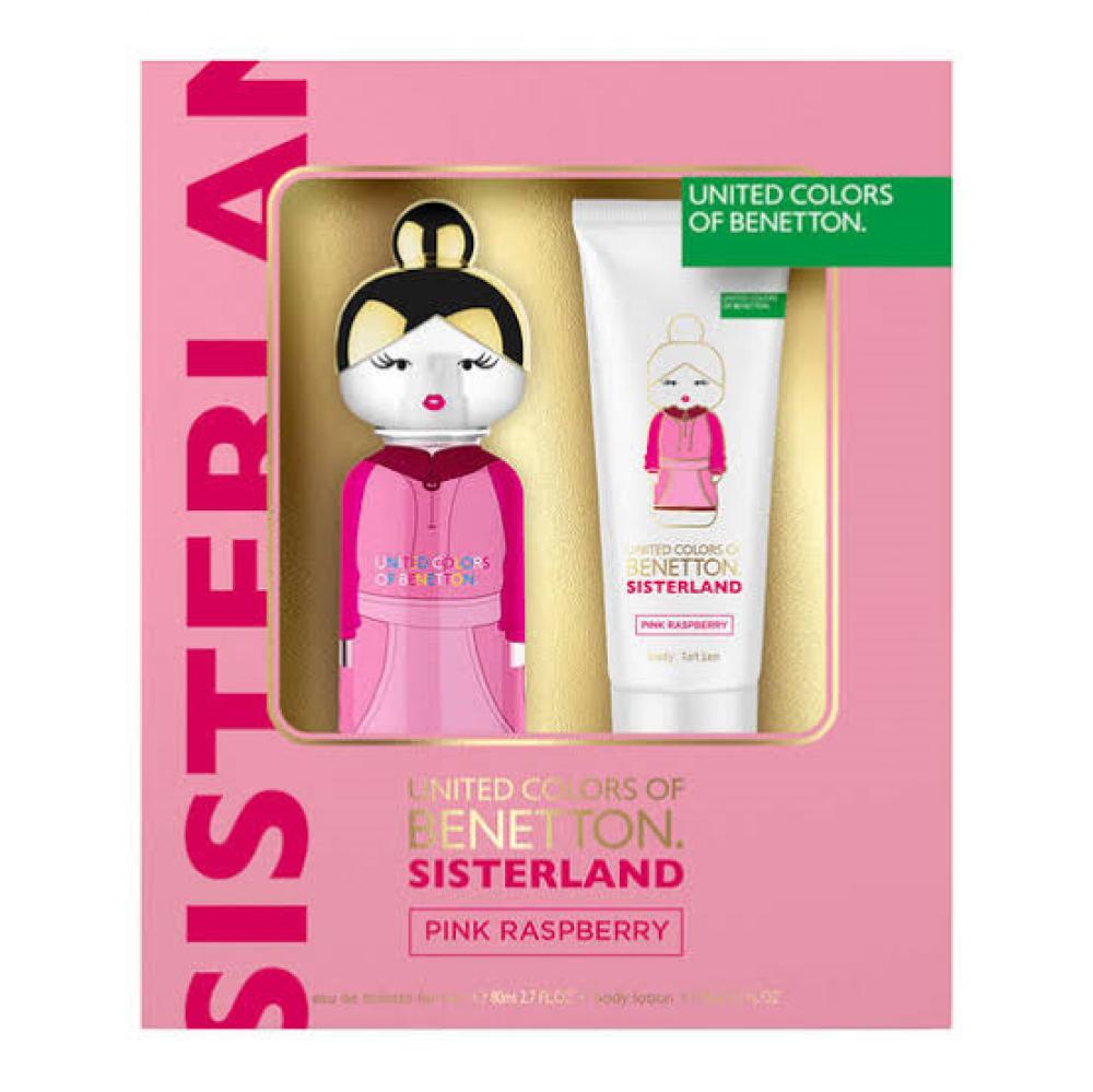 imagem Kit Benetton Sisterland Pink Raspberry Eau de Toilette + Body Lotion 80ml