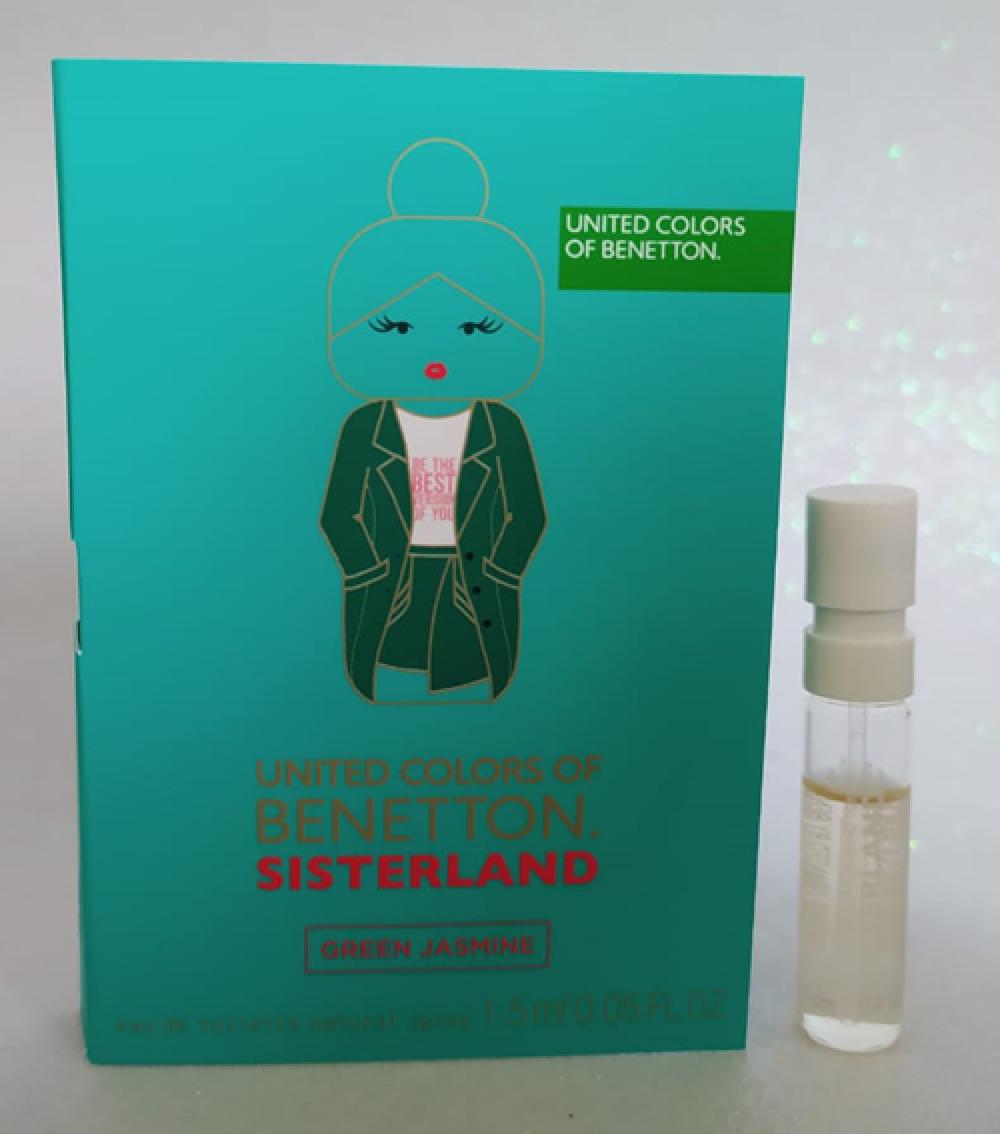 imagem Amostra Sisterland Green Jasmine Benetton Eau de Toilette - 1,5 ml