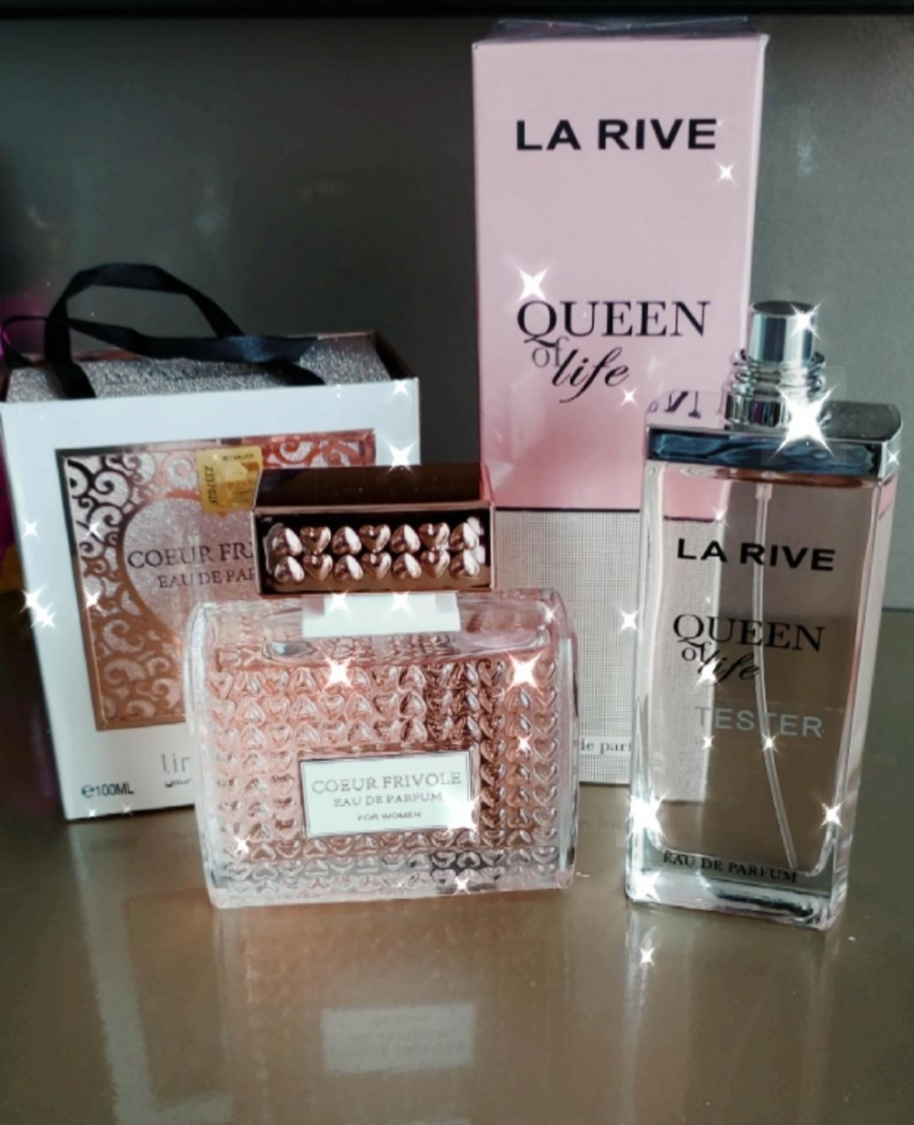 imagem Combo perfume Coeur Frivole 100ml + Queen of Life 75ml - La Rive - Feminino
