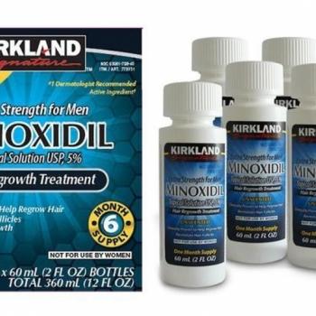 imagem  Kit Minoxidil Kirkland Signature 60ml caixa contém (6 peças)