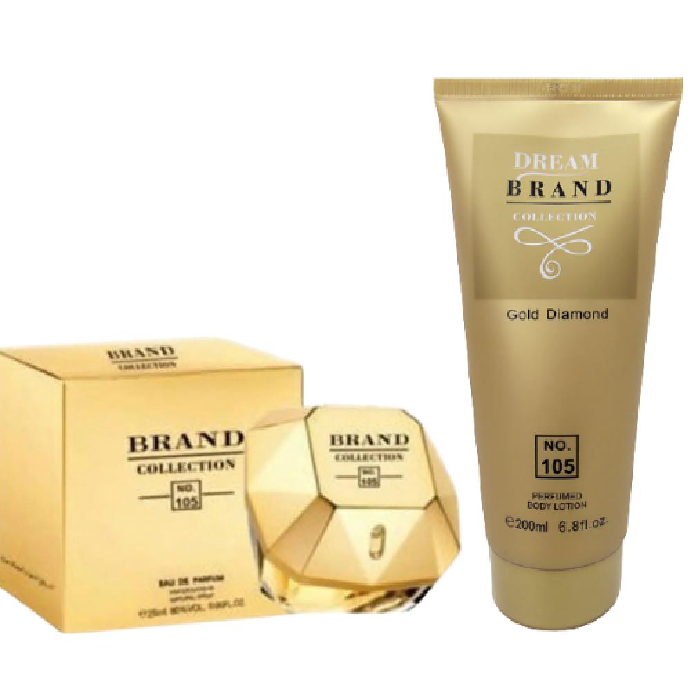 imagem Kit Hidratante Corporal 200 ml + perfume 25 ml - Brand Collection 105 - Inspiração Lady Million