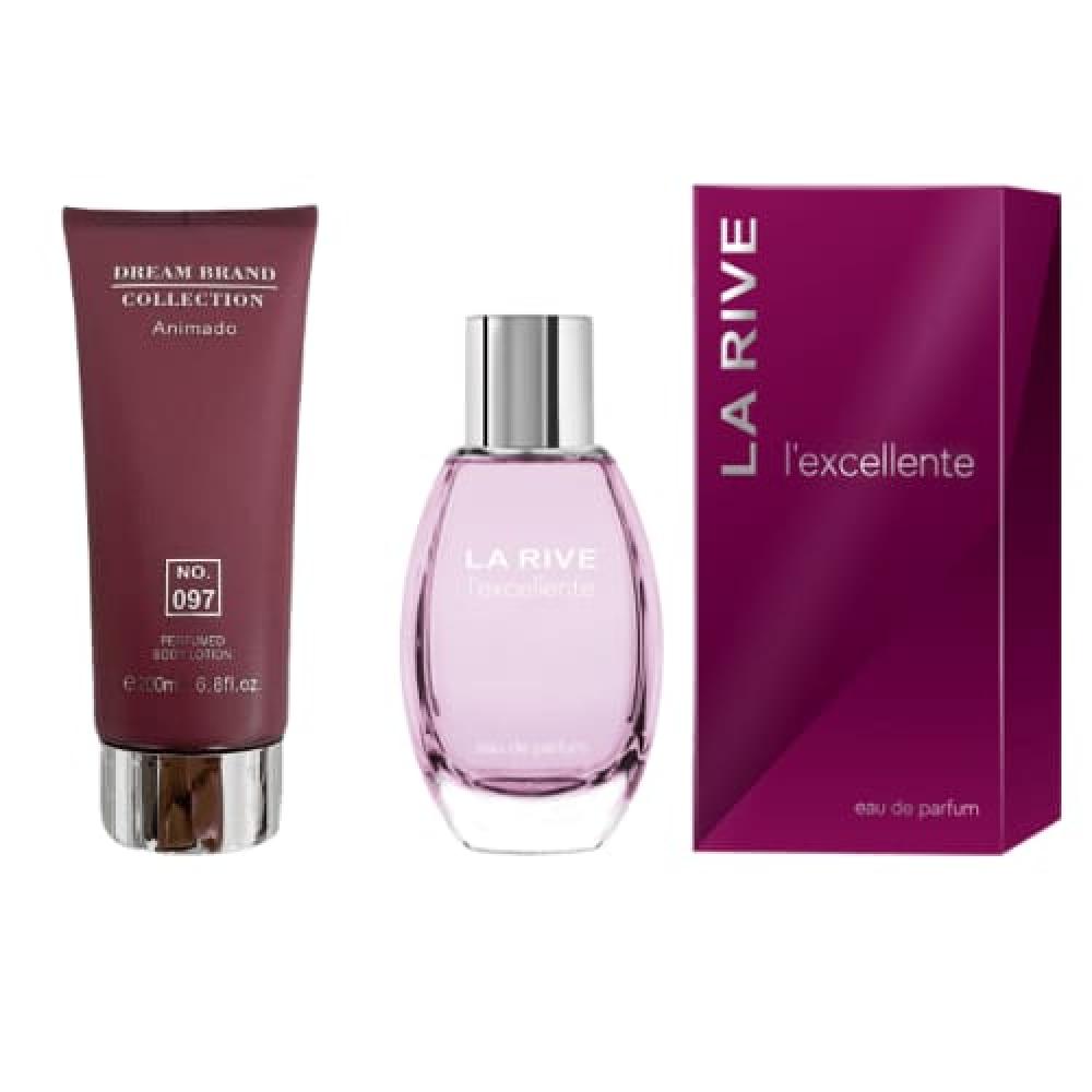 imagem Kit Hidratante Corporal Brand Collection 097 200 ml + Lexcellente La Rive Feminino Eau de Parfum 100ml - Inspiração Euphoria